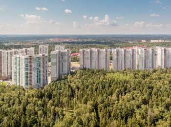 Микрорайон расположен в окружении хвойного леса
